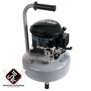 Flüsterkompressor Sie-Air mit einem 9 Liter Drucklufttank