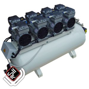 CMD 480-100 Professioneller Druckluftkompressor mit vier Motoren auf einem 100Liter DrucklufttankTank