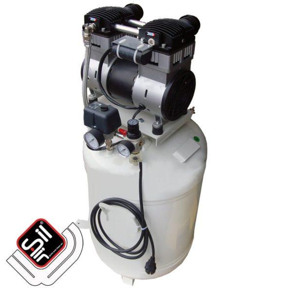 SilAir-CMD Plus-Kompressor-mit einem Motor , Druckregler und Druckschalter sowie Drucklufttank
