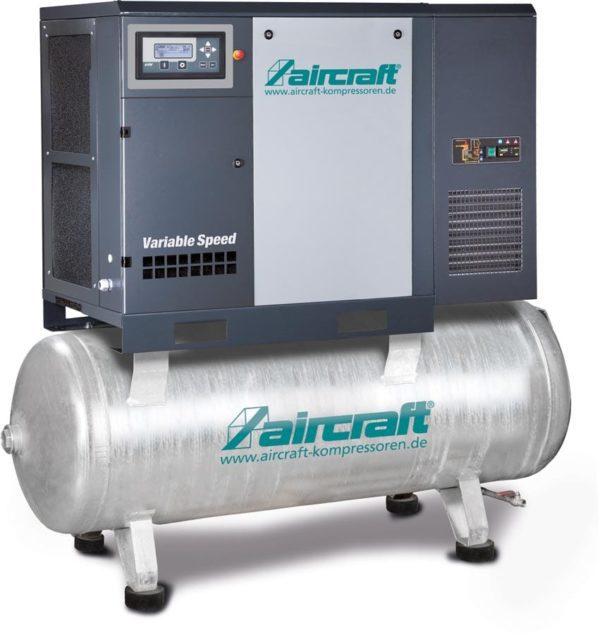 Direktgekuppelter Schraubenkompressor mit Behälter