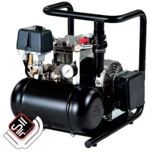 Panther Kompressor im Grundrahmen mit Drucklufttank, Druckregler und Druckschalter-schwarz