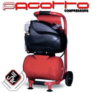Pagotto-Kolbenkompressor-ein Motor mit Drucklufttank auf einer Sackkarre verbaut