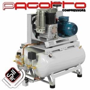 SilAir Pagotto Kolbenkompressor mit doppeltem Drucklufttank