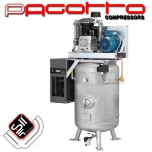 SilAir PAGOTTO Kolbenkompressor-Kältetrockner-stehendem Drucklufttank mit Handloch