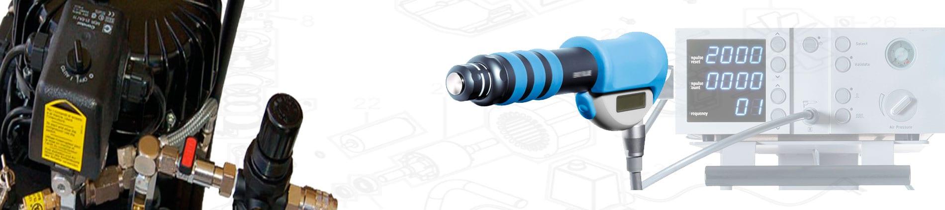 """Kompressor für SWISS DOLORCLAST® """"CLASSIC"""": Das originale Gerät für radiale Stosswellen, das seit 1999 neue Standards für die Behandlungen von Tendopathien und Verkalkungen setzt."""