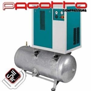 Kompressor SilAir PAGOTTO Kompressor im Gehäuse mit Amaturen und Druckbehälter