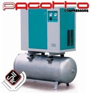 SilAir Pagotto Scroll Kompressor mit Drucklufttank und Amaturen