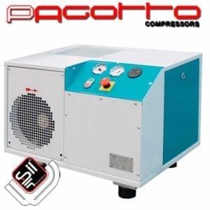 PAGOTTO Schraubenkompressor 2,2KW alleinstehend als Kasten verbaut mit Amaturen