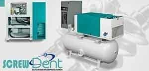 Uebersicht von Schraubenkompressoren der Serie Silair Screw Dent