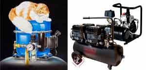 Uebersicht der flüsterleisen Kolbenkompressoren der Marke SilAir und Panther