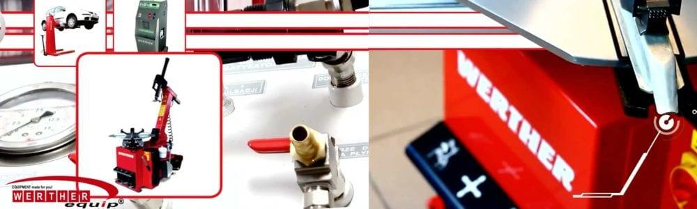 Reifenmontiergeräte Auswuchtgeräte für die komplette Werkstattausrüstung von WERTHER EQUIP International