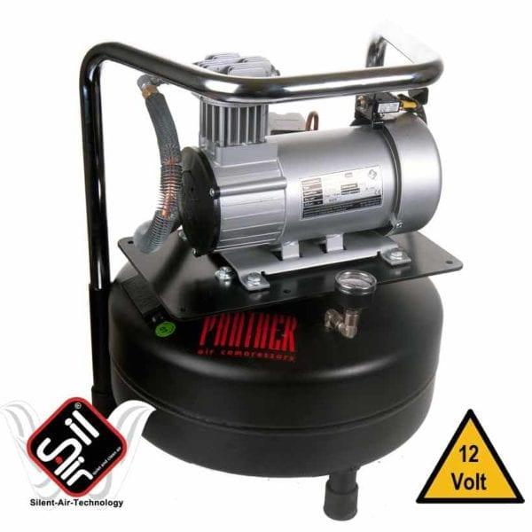 12Volt Kolbenkompressor mit 24 Liter Drucklufttank