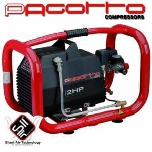 ölfreier Kolbenkompressor der Marke PAGOTTO aus dem Hause Silent-Air-Technology