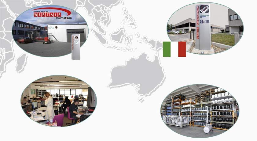 Standort Deutschland, Vertriebsgebäude, Lager und Produktion von Kompressoren